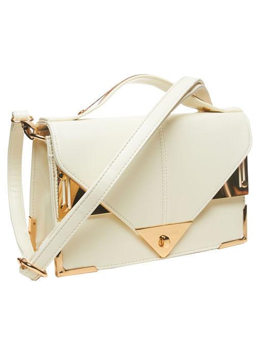 METAL TRIM CROSSBODY BAG