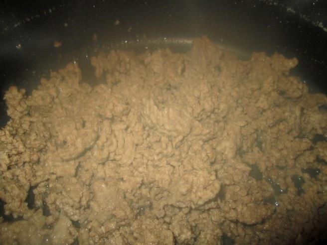 1 pound of ground beef(brown,drain fat)