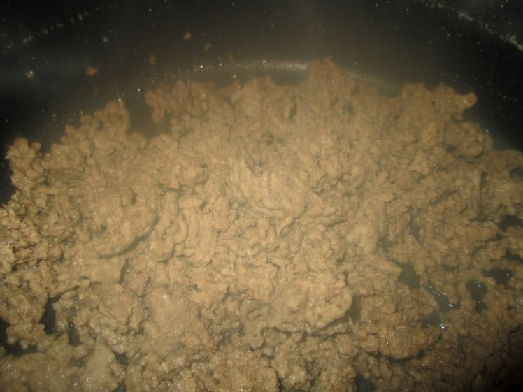 1 pound of ground beef(brown,drain fat)
