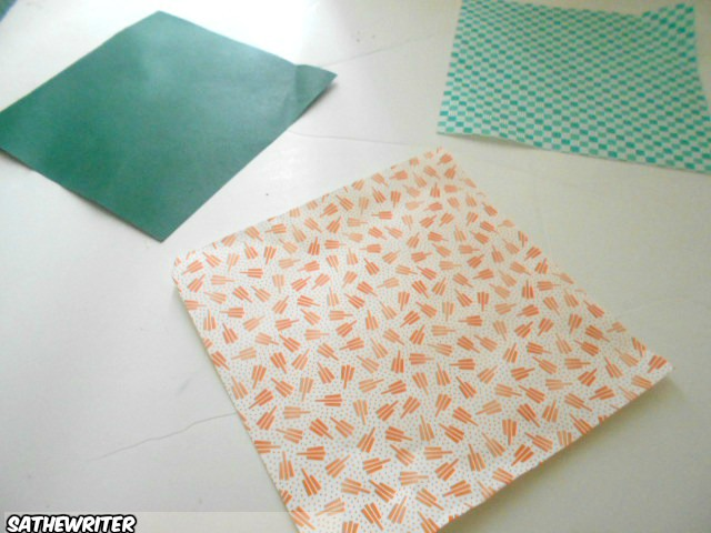 You'll need origami paper. It's not expensive and be found online.