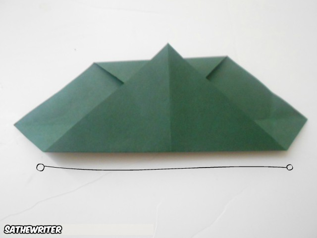 Fold the bottom half up to the very top
